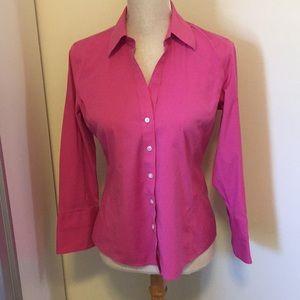 Talbots pink button down shirt size 6